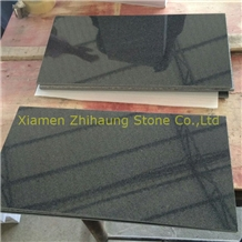 G654 Impala Black Granite Polished Thin Tiles