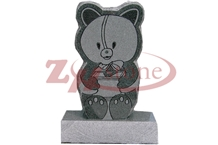 G654 Pandang Black Granite Bear Headstone