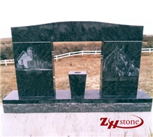 Horse&Castle Atlantic Green Marble Tombstone