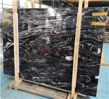 Ink Black,Magma Black Marble Slab for Countertop
