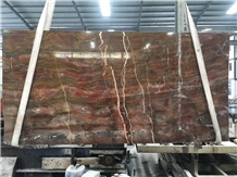 Louis Agate,Red Louis Agate Slabs Hotel Project