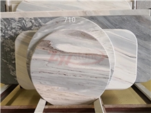 Palissandro Bianco Marble Round Table Top Design