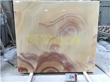 Red Dragon Jade Onyx Slab for Hotel Decoration