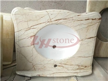 Sophia Golden Marble Bathroom Vanity Top