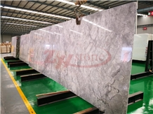 Super White Quartzite Slabs for Kitchen Countertop