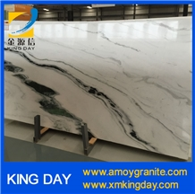 Panda White, White Marble with Black Veins