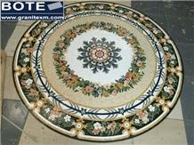 Marble Mosaic Medallion Decorative Floor Carpet
