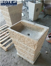 Natural Chiselled Pedestal Basins/Sinks
