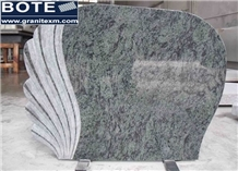Olive Green Granite Tombstone Monument Headstone