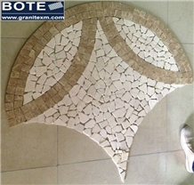 Pebble Mosaic Medallions Decorative Carpet Mosaic