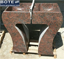 Red Granite Pedestal Basins Rectangle Sinks