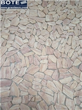Tiger Yellow Pebble Marble Mosaic Tiles in Stock