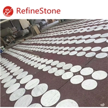 Bianco Carrara White Marble Round Table Top