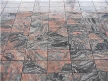 China Multicolor Red Granite Tiles