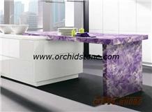 Amethyst Semiprecious Kitchen Countertop,Worktop