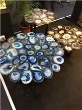 Blue Agate Backlit Decoration Table Tops