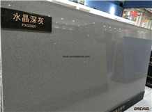 Crystal Grey Quartz Stone Slabs,Solid Surface