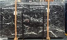 Nero Marquina Marble Slabs,Flooring Tiles,Walling