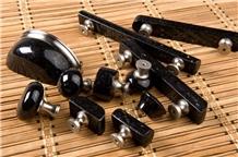 Black Galaxy Granite Knob and Pull and Handle,Furniture Handle