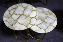 Luxury Agate Gemstone Preicous Stone Table Tea Top