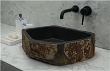 Slate Sink Unregular Wash Basin Black Sink
