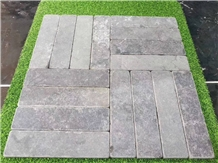 Tumbled Andesite Tile Flooring Frence Pattern Ston