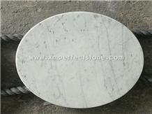 Carrara White Round Dinner Tabletops