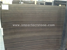 China Brown Obama Wood Marble Slabs & Tiles