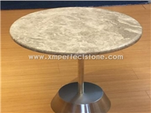 Dinner Table, Emperador Light Brown Marble