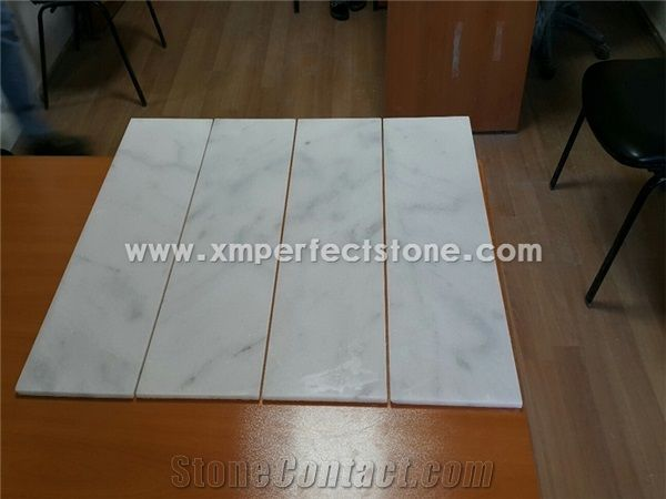 Mugla White Marble Tiles Polish Marble Floor Tile From China