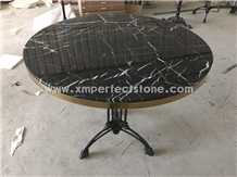 Nero Black Marquina Marble Table Tops