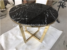 Nero Marquina Marble Style Table Tops