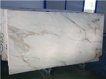 Calacatta Cremo Polished Slabs, Italian Marble
