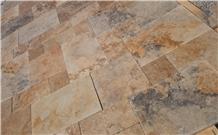 Tuscany Bronze Blend Travertine Tile 3cm Tumbled