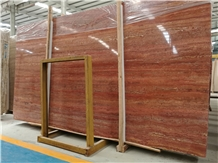 Iran Red Travertine Slab,Good for Wall Application