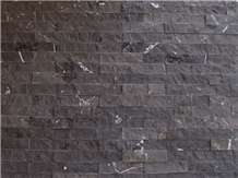 Black Marble Split Stone Marble Wall Application