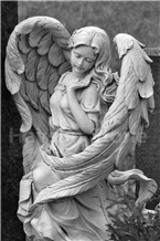 Handcarved Religious Wing Angel Sculptures/Statues