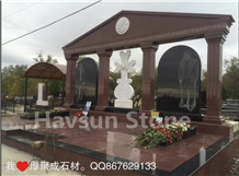 Russian Cross Etched Family Memorials Monuments