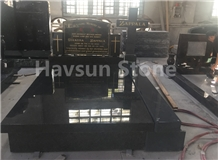 South Africa Black/Nero Impala Cross Tombstone