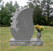 White Color Rose Tombstone, Monument, Headstone
