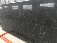 Black Artificial Quartz Stone for Vanity Top