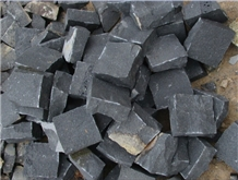 Black Basalt Cobble Paving Sets Cube Stone