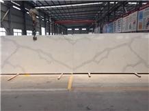 Calacatta White Quartz Stone Slab
