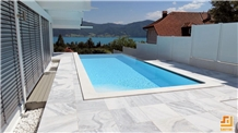 Cheap Price White Cloudy Marble Pool Coping