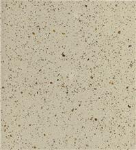 Crystal Beige,Yellow Artificial Quartz Stone Slab