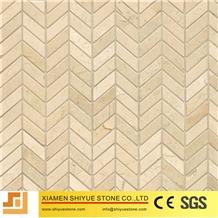 Marble Stone Cream Marfil Beige Mosaic Tile