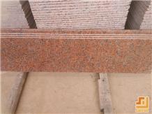 Marple Leaf Red Granite Stair Riser and Tread Use