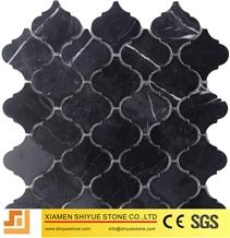 Nero Marquina Marble Mosaic,Black Mosaic Tile