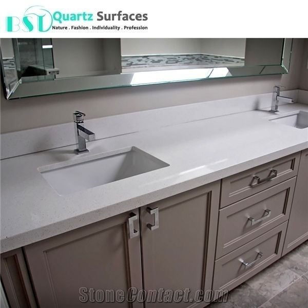 White Solid Surface Kitchen Countertop