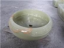 Green Onyx Sink Bowls Decoration for Bathroom